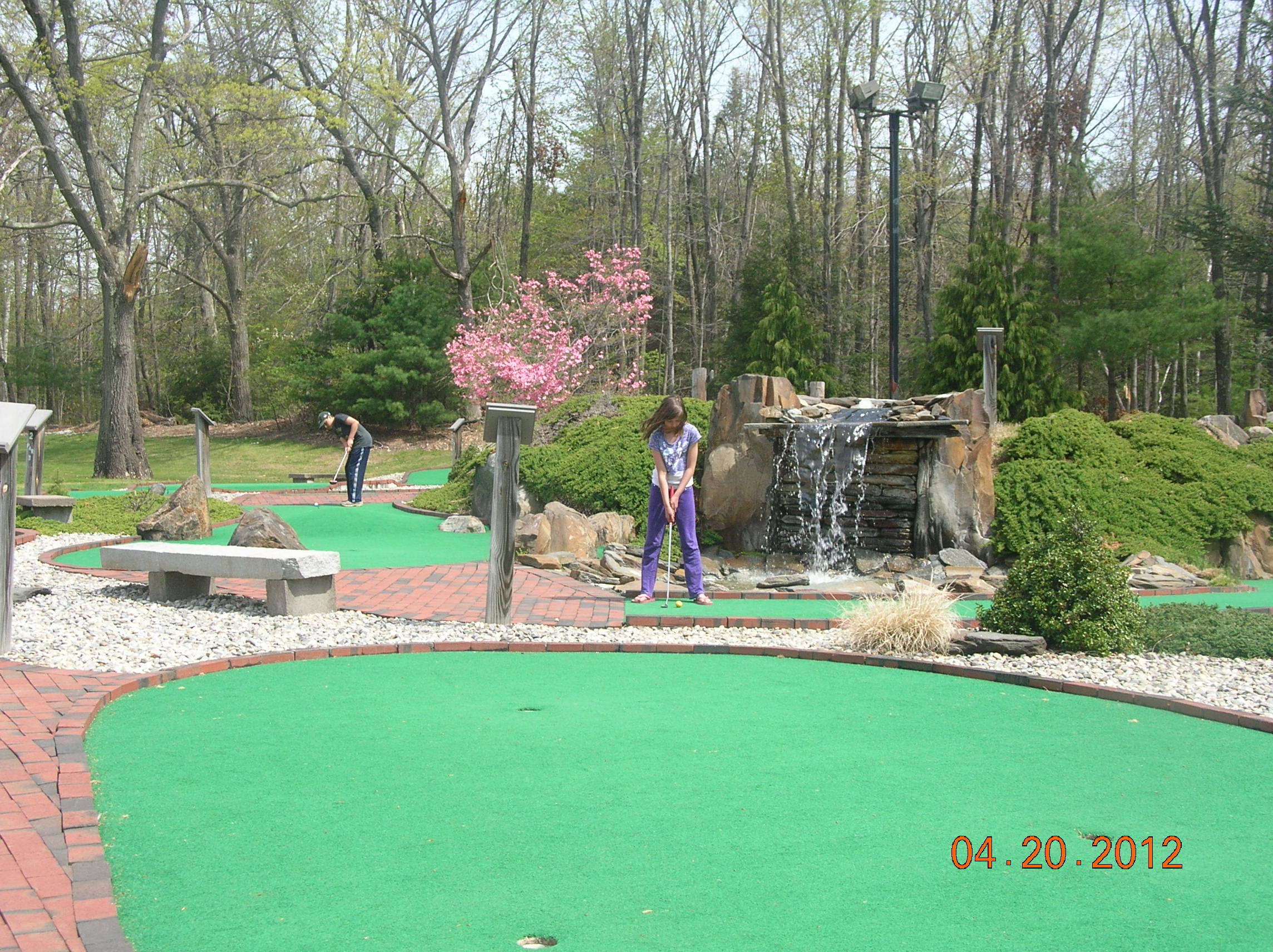 18 hole challenging mini golf course.